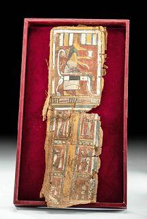 Egyptian Late Dynastic Cartonnage Panel - Anubis