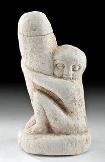 Romano-Egyptian Limestone Ithyphallic Figure