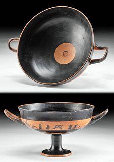 Greek Attic Pottery Stemmed Kylix, TL'd, Art Loss