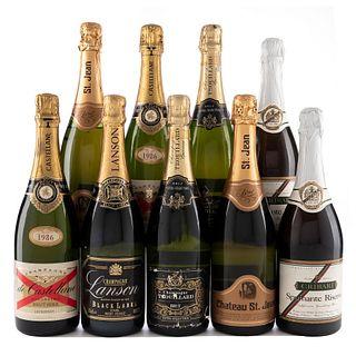 Champagne. a) Trouillard. b) Cribari. c) Castellane. d) Château St. Jean. Total de piezas: 9.