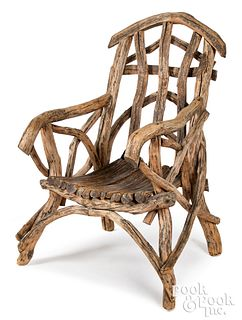 Adirondack armchair, early/mid 20th c.