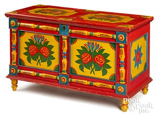 Important York County, PA painted blanket chest