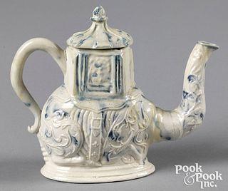 Staffordshire salt glaze stoneware camel teapot