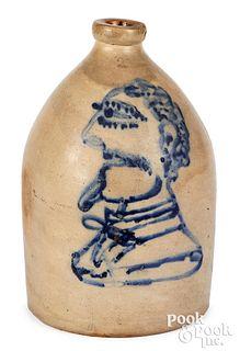 Stoneware jug, probably NY