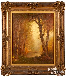 Thomas Lochlan Smith oil on canvas lakescene