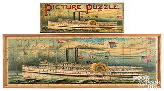 McLoughlin Bros. City Worchester Picture Puzzle
