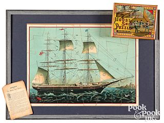 Milton Bradley Model Ship Puzzle, ca. 1900
