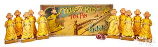 McLoughlin Bros. Yellow Kid Ten Pin Game
