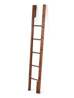 A George III Style Pine Collapsible Library Ladder