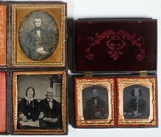 (3) EARLY CASED PHOTOGRAPHS