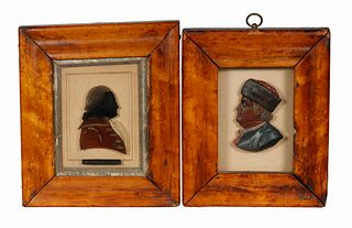(2) EARLY 19TH C. MINIATURE PORTRAITS OF AMERICAN PATRIOTS