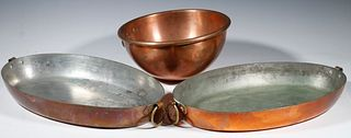 (3 PCS) FRENCH COPPER COOKWARE