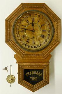 OAK CALENDAR SCHOOL CLOCK BY GILBERT