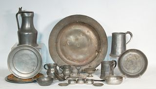(21 PCS) EARLY PEWTER