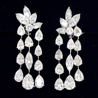 24.22 Ct Diamond Chandelier Earrings