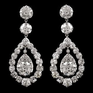 17.14 Ct Diamond Chandelier Earrings
