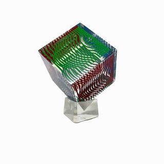 (2) 1970s Vintage Victor Vasarely Cube