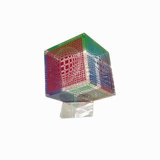 (1) 1970s Vintage Victor Vasarely Cube