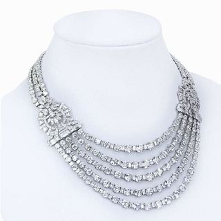 168 Ct Diamond Necklace