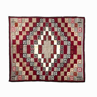 Native American Navajo Western Natural Yarn Rug