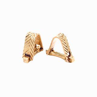 18K Yellow Gold Cartier Cuff Links