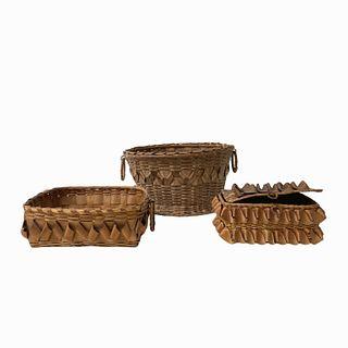 (3) Fancy Baskets Porcupine Curls (1880-1920)