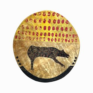 20th Century Shield Cover Reproduction Cow Hide