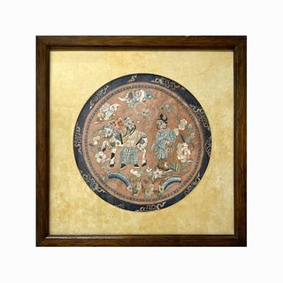 Antique Chinese Embroidery & Textile Wall Art