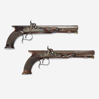 A cased pair of English gentleman's pistols London, early 19th century