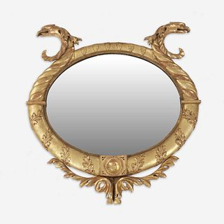 A Classical giltwood looking glass first quarter 19th century