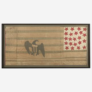 A 22-Star American Flag commemorating Alabama statehood or Exclusionary Flag circa 1830
