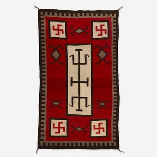 A Navajo rug J.B. Moore, Crystal, New Mexico, early 20th century