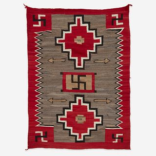 A large Navajo rug early 20th century