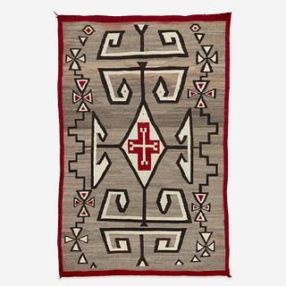 A large Navajo Rug Attributed to  J.B. Moore, Crystal, New Mexico,  circa 1940
