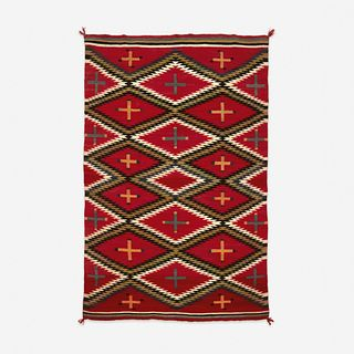 A fine transitional Navajo blanket/rug early 20th century