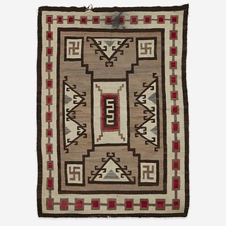 A Navajo rug Attributed to J.B. Moore, Crystal, New Mexico, early 20th century