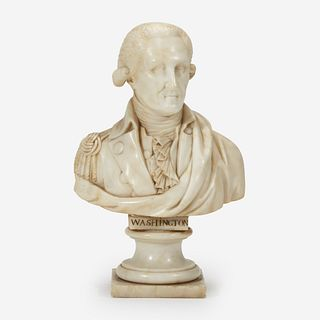 A small marble bust of General George Washington (1732-1799) 19th century