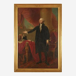 After Gilbert Stuart (1755-1828) The Landsdowne Portrait of George Washington (1732-1799)