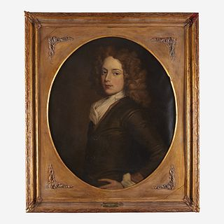 Jefferson David Chalfant (1856-1931) After Sir Godfrey Kneller (British, 1646-1723) Portrait of James William Frisby (1684-1719), of Cecil County, MD