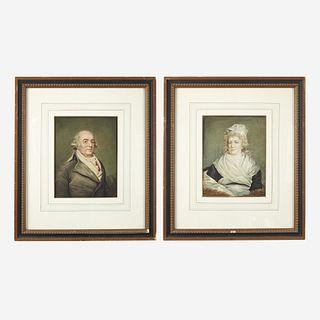 After John Hoppner (English, 1758-1810) Pair of Portraits: Sarah Franklin Bache (1743-1808) and Richard Bache (1737-1811)