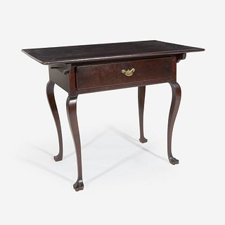 A Queen Anne cherrywood tavern table Mid-Atlantic States, circa 1750