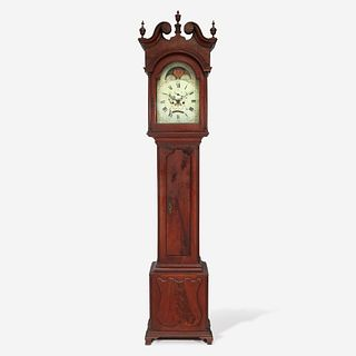 A Chippendale carved walnut tall case clock Benjamin Morris (1748-1833), Hilltown and New Britain, PA, circa 1800