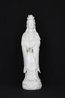 Large Dehua Standing Guanyin, Ex Christie's