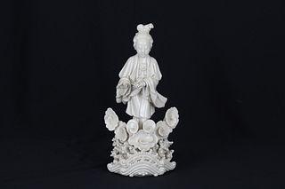 Antique Chinese Dehua Porcelain Guanyin Figure