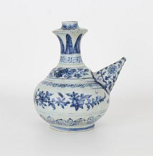 Ming Dynasty Blue/White Porcelain Ewer