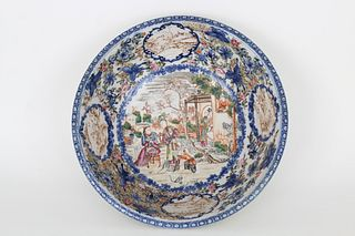 Large 18th C. Chinese Export Porcelain Bowl