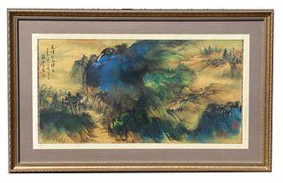 Yunsheng Sun (China, 1918 - 2000) Watercolor