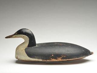 Working loon decoy from Sandy Point in Shelburne County, Nova Scotia, unknown maker, 1st quarter 20th century.