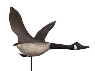 impressive full size flying Canada goose, Stacey Bryanton, Kennsington, Prince Edward Island 2nd half 20th century.