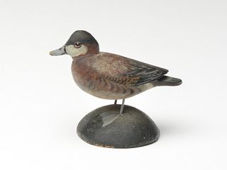 Miniature ruddy duck drake, Elmer Crowell, East Harwich, Massachusetts